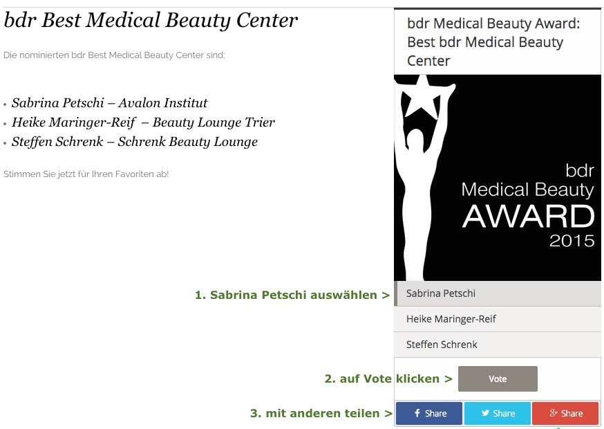bdr best medical beauty award